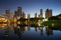 Kuala Lumpur-Skylineansicht vor Sonnenuntergang Stockfoto