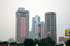 Kuala Lumpur skyscrapers Stock Images