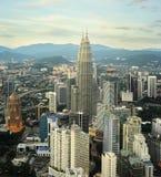 Kuala Lumpur solnedgång royaltyfri fotografi