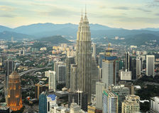 Kuala Lumpur solnedgång royaltyfri foto