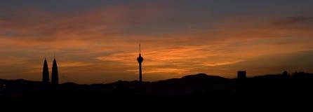 Kuala Lumpur soluppgång fotografering för bildbyråer
