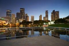 Kuala Lumpur-Stadt im Stadtzentrum gelegen bei vor Sonnenaufgang Stockfotografie