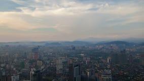 Kuala Lumpur-Stadt Luft-timelapse 4k stock footage