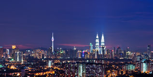Kuala Lumpur-Stadtbild Lizenzfreie Stockfotos