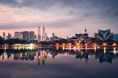 Kuala Lumpur at the sunrise Stock Photo