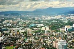Kuala Lumpur am sunse Stockbild