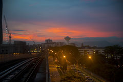 Kuala Lumpur Sunset Photos stock