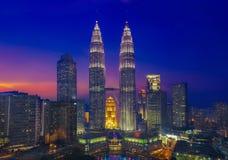 Kuala Lumpur & Sunset royalty free stock image