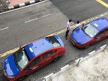 Kuala Lumpur taxichaufförer Arkivfoto