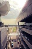 Kuala Lumpur 2017 18th Februari Kuala Lumpur International Airport arkitektonisk design Arkivfoto