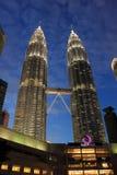 KUALA LUMPUR. 2017, 17th February, Malaysia's Twin Towers in Kua. KUALA LUMPUR. 2017, 17th February, Portrait of Malaysia's Twin Towers in Kuala Lumpur at the Royalty Free Stock Image