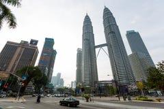 Kuala Lumpur torn kopplar samman Arkivbild