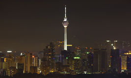Kuala Lumpur Tower By Night Royalty Free Stock Photo