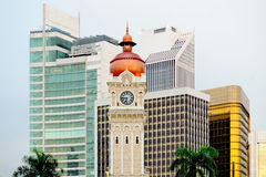 Kuala Lumpur. Tower of Sultans palace on the background of skys Stock Image