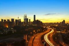 Kuala Lumpur Twilight Stock Images