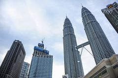 Kuala Lumpur Twin Tower, Kuala Lumpur Malaysia Fotografia Stock
