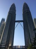 Kuala Lumpur Twin Towers. Currently the tallest twin tower in the world stock photo