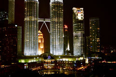 Kuala Lumpur twins towers Royalty Free Stock Images