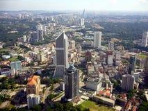 Kuala Lumpur van hierboven Stock Fotografie