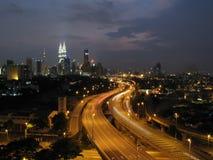 Kuala Lumpur y las torres gemelas Imagen de archivo libre de regalías