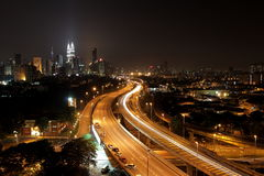 Kuala- Lumpurnachtszene II Stockfoto