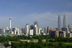 Kuala- LumpurSkyline Stockbild