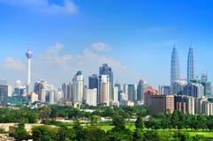 Kuala- LumpurSkyline Stockfoto