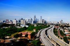Kuala- LumpurSkyline Lizenzfreie Stockfotos