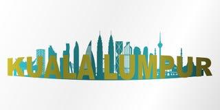 Kuala- Lumpurstadt stock abbildung
