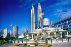 Kuala- Lumpurstadt-Skyline Stockfotos