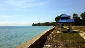 Kuala Pengyu. This is a view of a not well known by tourists beach in a small city in Borneo Island Stock Photo