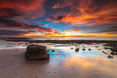 Kuala Penyu during sunset. This beach also call batu luang village in town of Kuala Penyu, Sabah, Malaysia Stock Photography