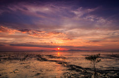 Kuala Perlis Sunset Fotografia Stock Libera da Diritti