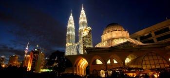 Kuala 's nachts Lumpur Royalty-vrije Stock Fotografie