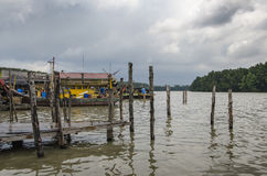 Kuala Sepetang Fishing Village, Taiping, Malaysia -. Kuala Sepetang peviously known as Port Weld stock images