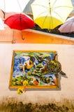 Kuala Terengganu, Malaysia - 11. April 2015: Wandkunst decoratin Lizenzfreie Stockfotografie