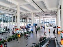Kualanamu internationell flygplats utanför byggnad arkivfoto