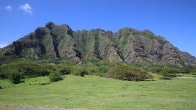 Kualoa Ranch. Jurassic Park film location , Oahu, Hawaii stock video footage