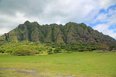 Kualoa Ranch. Landscape in Kualoa Ranch - Kaneohe, Oahu,  Hawaii Stock Images