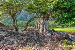 Kualoa Ranch Sugar Mill Ruins 2. Historic mill located on the Kualoa Ranch, North Shore, Oahu, Hawaii Stock Photography