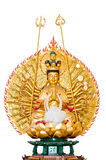 Kuan IM chainese god. White isolate background Royalty Free Stock Image