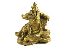 Kuan Kung der chinesische Gott des Krieges und des Wohlstandes Stockfotos