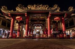 Free Kuan Yim Shrine Thian Fa Foundation A Traditional Chinese Temple At Yaowarat Road In The Night Stock Images - 170094894