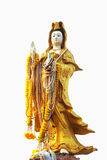 Kuan Yin image of buddha Chinese art. On isolated Background Stock Images