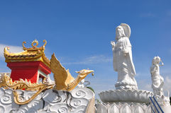 Kuan Yin image of buddha Chinese art Royalty Free Stock Photography