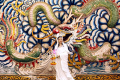 Kuan Yin, please Dragons Royalty Free Stock Photos
