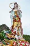 Kuan-yin statue. Kuan-yin female bodhisattva statue in thailand Stock Photography