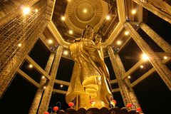Kuan Yin Statue at Kek Lok Si 01 Royalty Free Stock Photos