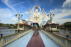 Kuan Yin statue on Thailand Royalty Free Stock Image