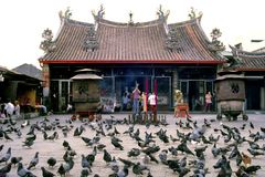 Kuan Yin Teng Temple. The Goddess of Mercy Temple, also known as Kuan Yin Teng or Guan Im Teng (Guan Yin Temple) to Penangites is one of the oldest Chinese Royalty Free Stock Photo
